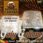"Galy Galiano ""15 Pistas Para Cantar"" - CD"